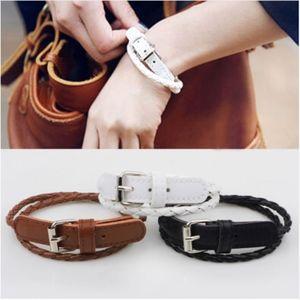 Jewelry - PREVIEW!! White Leather Belt Buckle Wrap Bracelet